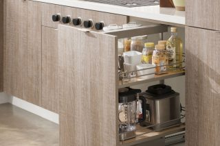 Pull-Out Base Kitchen Cabinet Pantry