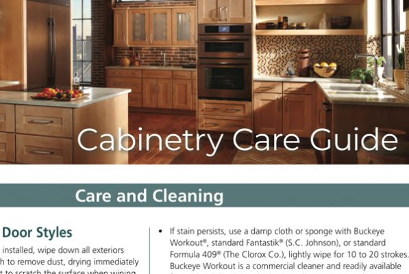 Cabinetry Care and Cleaning Guide PDF