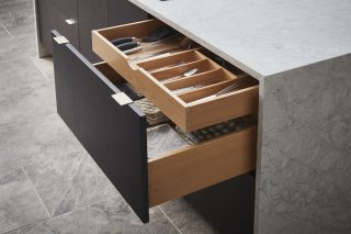 Hidden Tiered Drawer Storage
